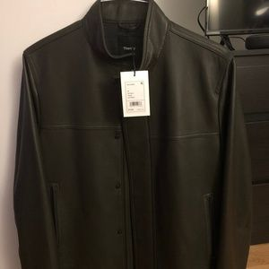 Theory Leather Jacket (Size M)